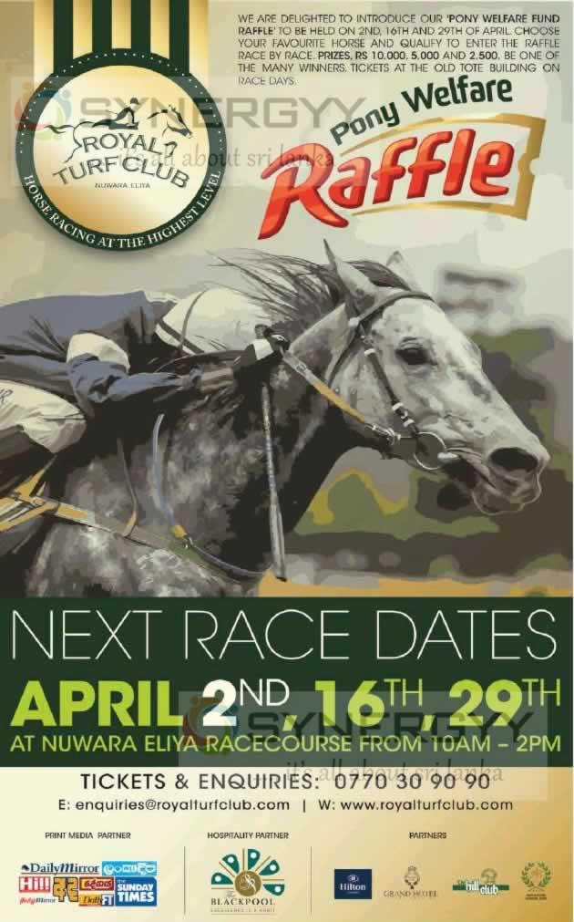 Nuwara Eliya Horse Race – 2nd April 2017 onwards