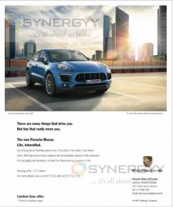 The new Porsche Macan now in Sri Lanka; Price starting from Rs. 17.7 Million