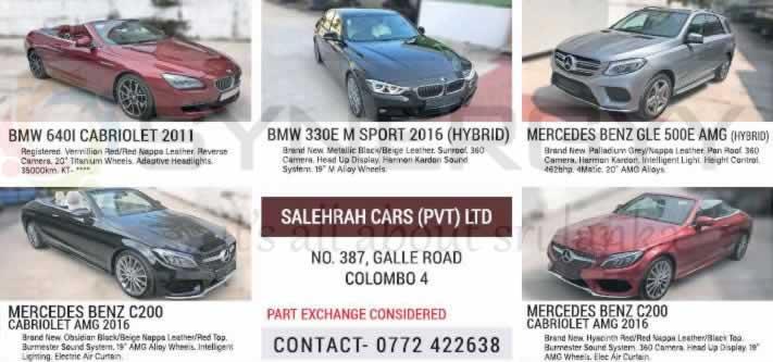 Luxury BMW & Mercedes Benz Cars for Sale – Salehrah Cars (Pvt) Ltd