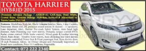 Toyota Harrier Hybrid 2015 for sale – Rs. 15.5 Million
