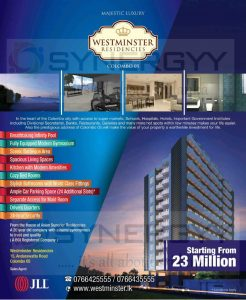 Westminster Residencies - Colombo 05 – Price Starting From Rs. 23 Million