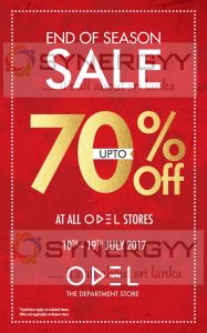 ODEL end of seasonal sale Discount upto 70% from 10th to 19th July 2017