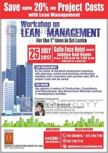 Workshop for Lean Management for Construction Industry
