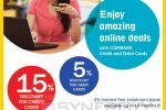 15% off at Mydeal.lk for Commercial Bank Credit Card