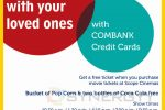 Get Free Pop Corn and Two Bottle of Coca Cola at Scope Cinemas; when you buy your ticket by Commercial Bank Credit Card