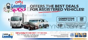 HNB Leasing for Registered Vehicles