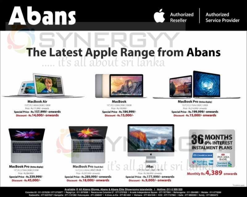 Latest Apple MacBook Prices in Sri Lanka – SynergyY