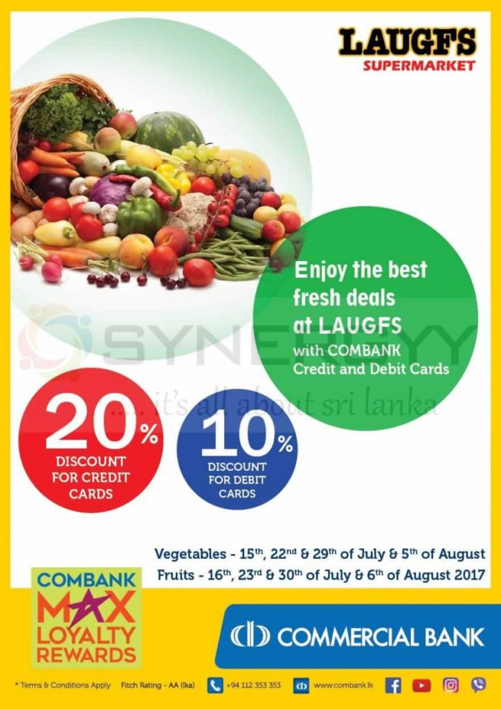 Laugfs Super Market Vegetables and Fruits goes promotion – Discount upto 20%