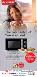 Singer Solo Microwave Oven 20L just for Rs. 9,999/- from Singer Sri Lanka