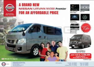 A Brand New Nissan Urvan NV350 Premier Priced Rs. 8,590,000- in Sri Lanka