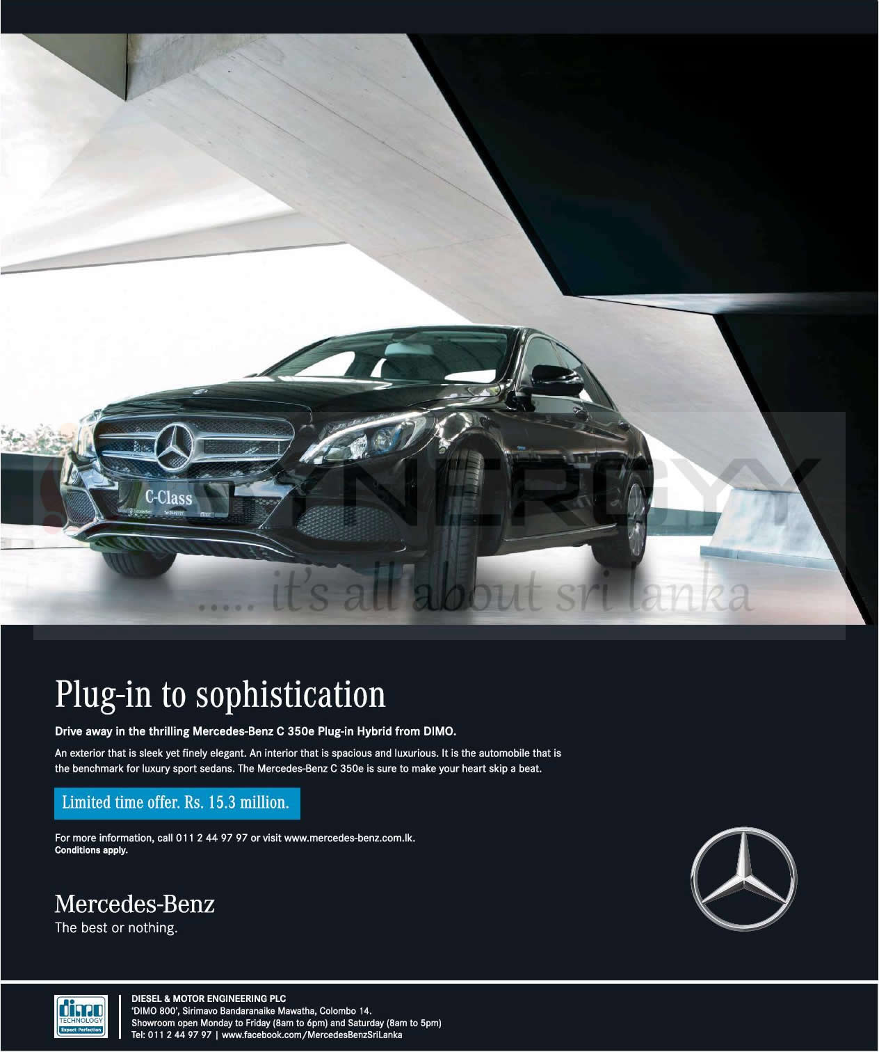 Mercedes-Benz C 350e Plug-in Hybrid For Rs. 15.3 Million