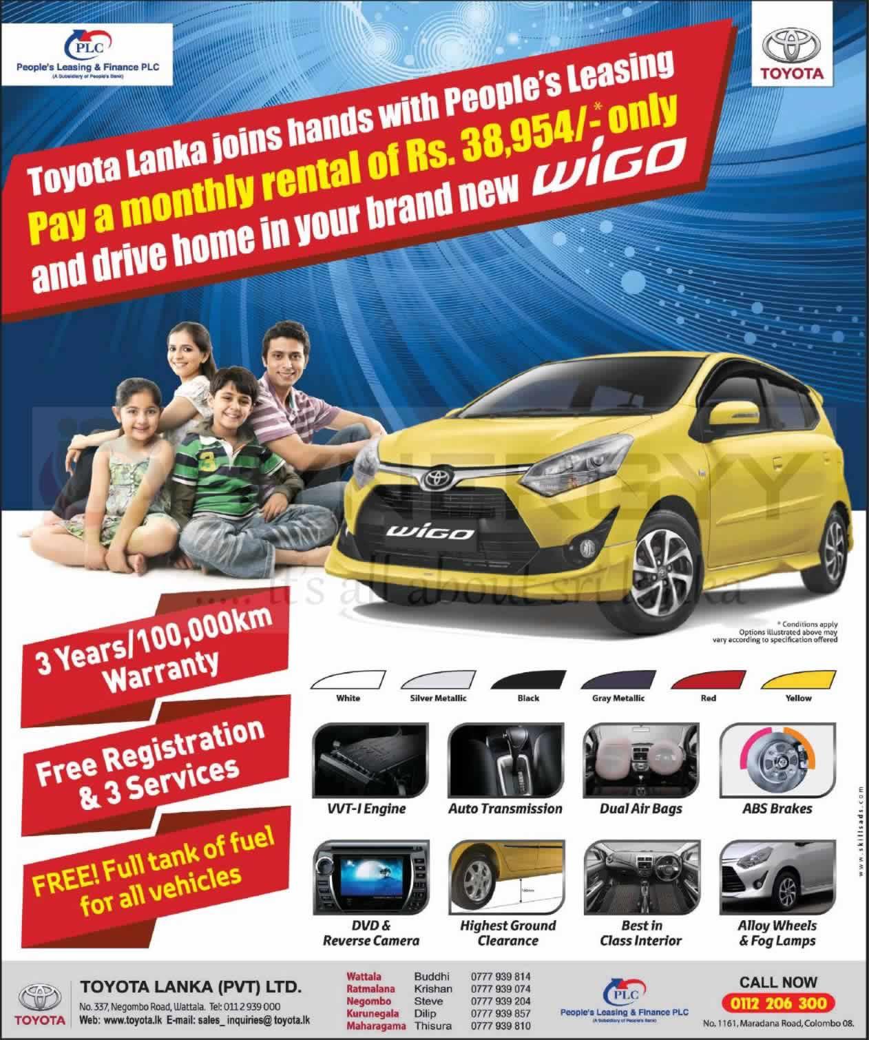 Toyota Wigo 2017 Price In Sri Lanka >> Toyota Wigo Leasing with People's Leasing « SynergyY