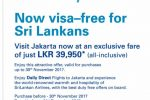 Fly to Jakarta for Rs. 39,950/- by Sri Lankan Airline