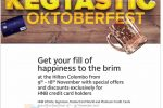 Oktoberfest at Hilton Colombo – Discount upto 30% for HNB Credit Card