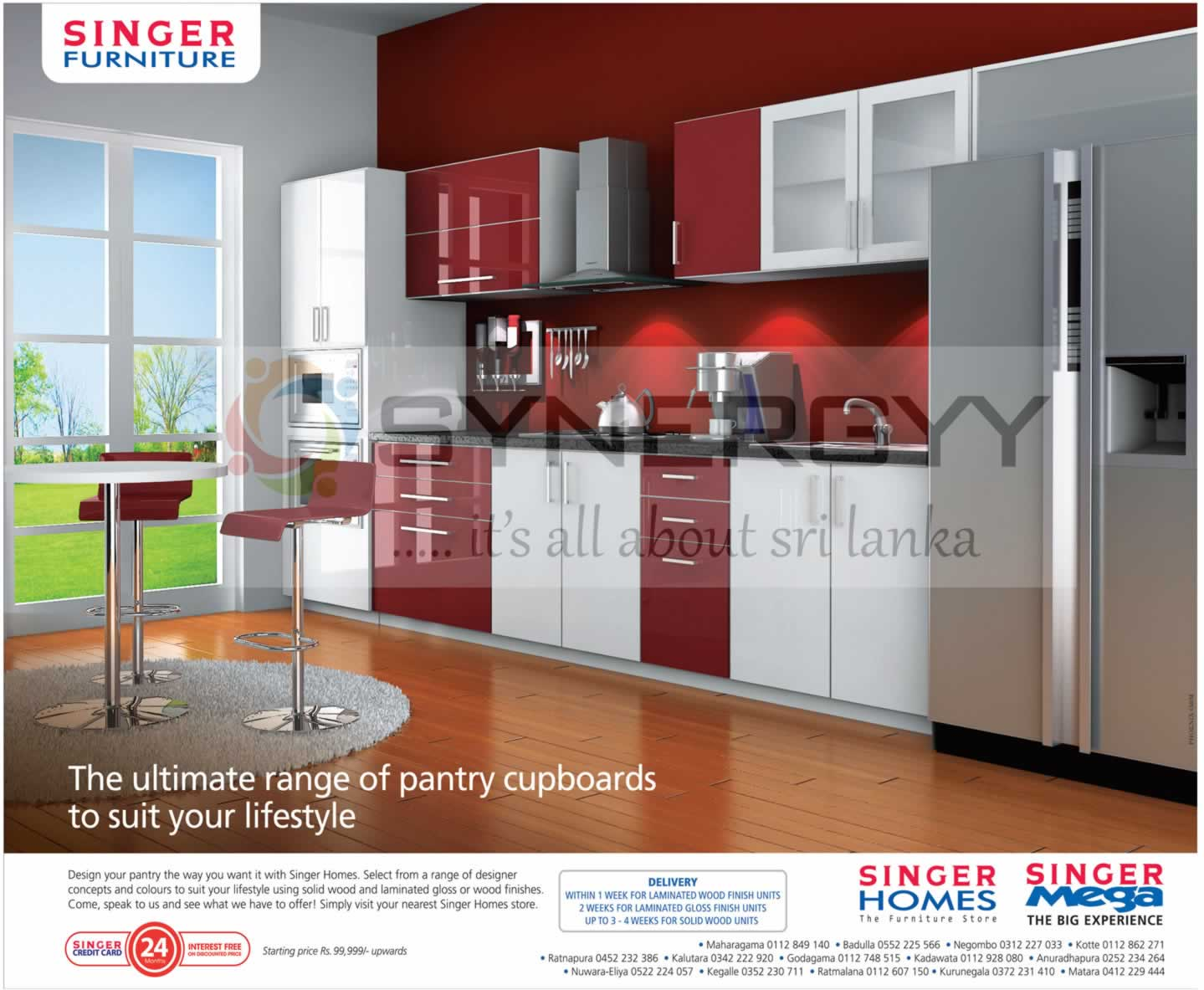 Pantry Cupboards From Singer Furniture  Price Starting From Rs.99,999