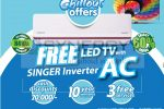 "Buy Singer Inverter AC and get 32"" TV for FREE"