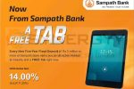A Free Tab for Five Years Fixed Deposits from Sampath Bank