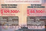 Colombo Mumbai, Male Colombo Cruise Service on Valentine 's Day