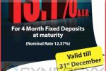 Highest Interest rate for Fixed Deposit from Pan Asia Bank