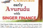 Singer Finance Advance Interest Payment for Fixed Deposit holders in this New Year 2018