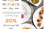 20% off on your Bill Café Beverly – Mother's Day Promotion