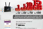 Dialog 4G Home Broadband add ons Packages