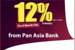 Highest Interest Rate from Pan Asia Bank for Short Term Fixed Deposits