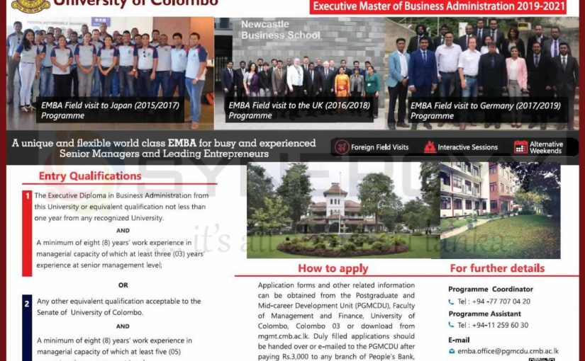 Executive MBA 2019/2020 from University of Colombo