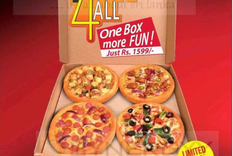 """Pizza Hut """"Pan 4 all"""" promotion – All inclusive price is Rs. 1,599/-"""