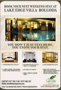 Ideal Weekend Stay at Lake Edge Villa at Bolgoda