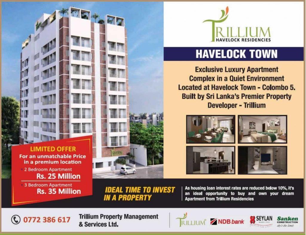 Trillium Residencies – Apartment for sale – Price LKR.25 Million